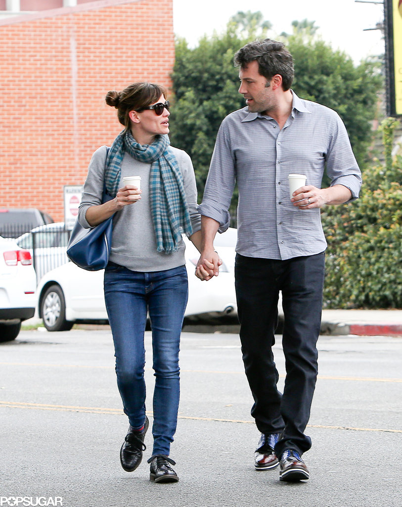 Jennifer Garner and Ben Affleck held hands on a stroll through LA, sharing a sweet look.