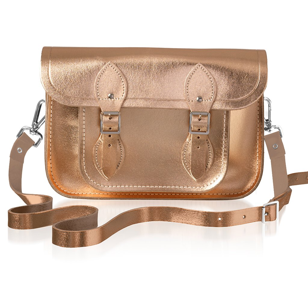 Cambridge Satchel Company in Rose Gold, Silver, and Gold