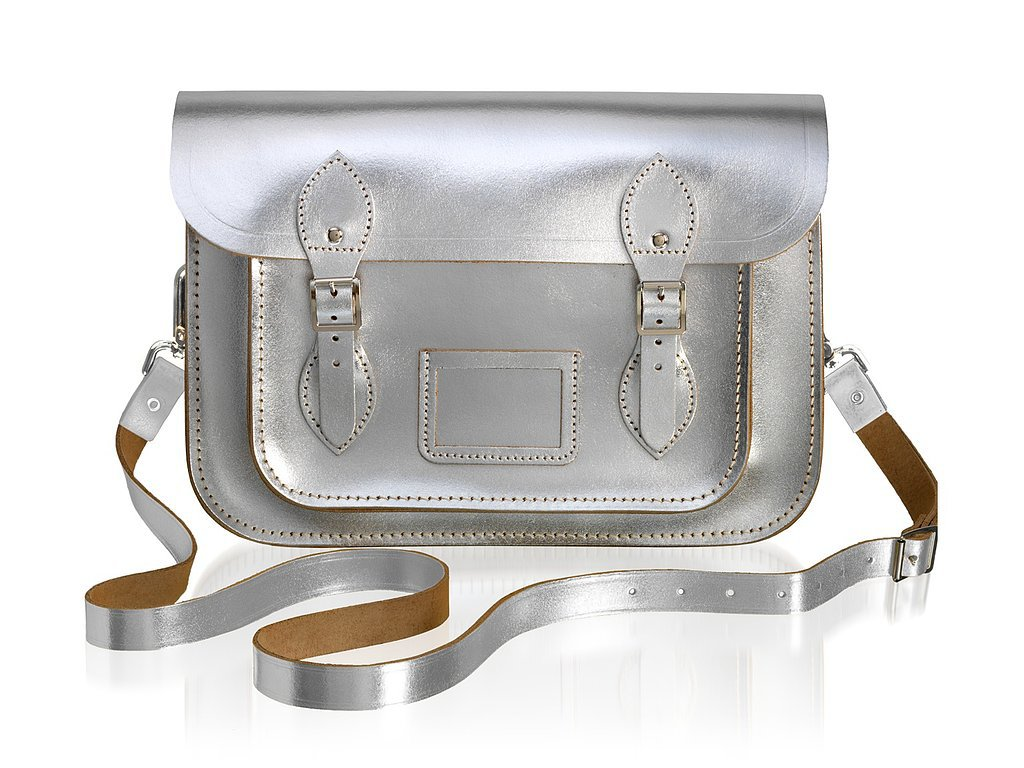 The Cambridge Satchel Company 11-Inch Satchel in Silver ($185)