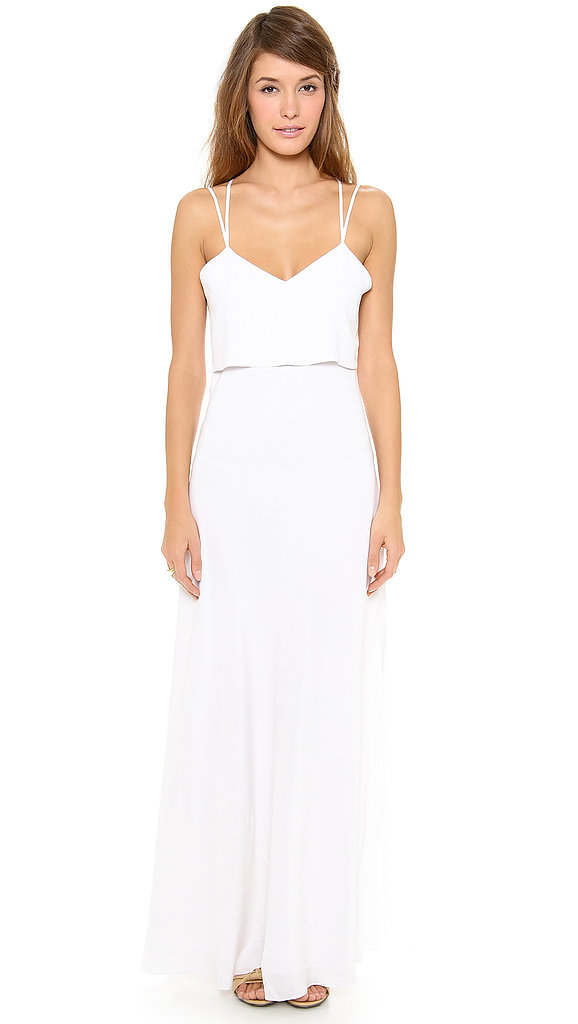 Band Of Outsiders Silk Crepe Spaghetti Strap Gown 795