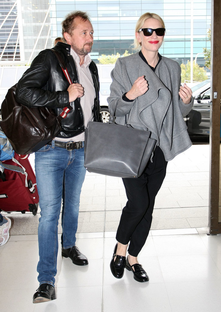 Cate Balnchett and her husband left Australia on Friday to head to LA for the Oscars.