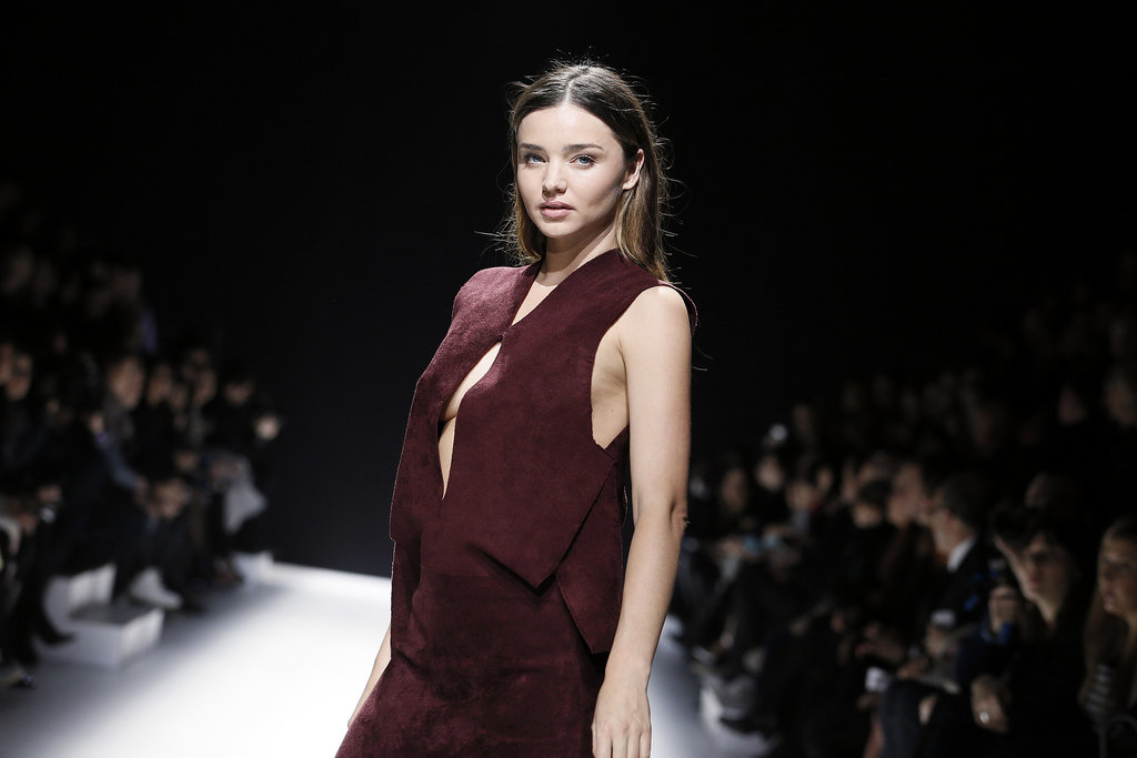On Friday, Miranda Kerr walked the runway at the Sonia Rykiel Fall 2014 fashion show in Paris.