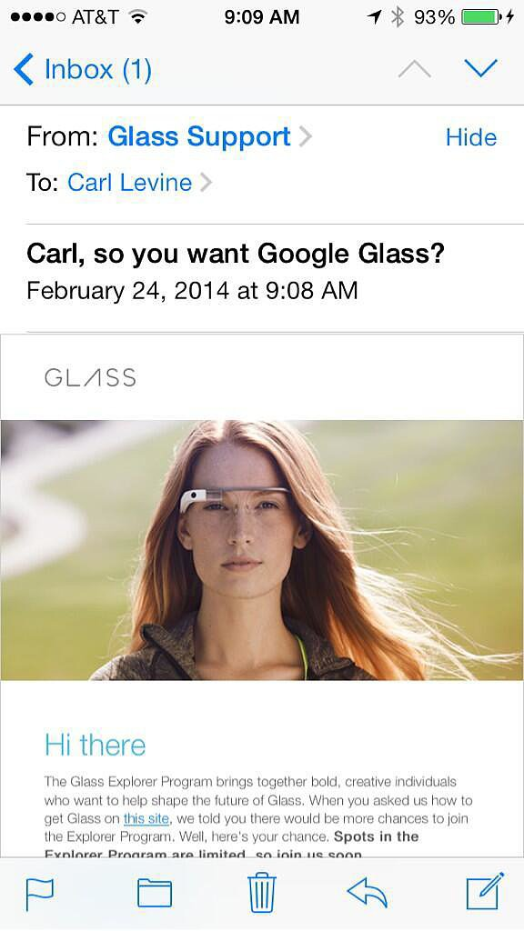 Google Taunting You With a Glass Invite That You Can't Afford