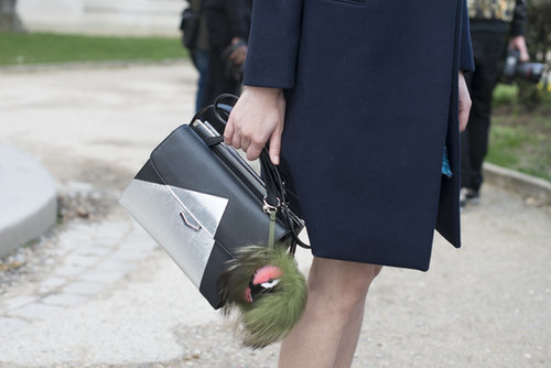We spy a metallic-tinged Fendi.