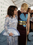 Cate bonded with Blue Jasmine costar Sally Hawkins on the blue carpet.