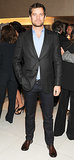 Joshua Jackson sported scruff at the Giorgio Armani party on Friday.
