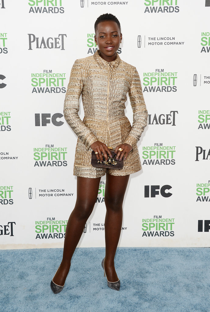 Lupita Nyong'o at the 2014 Spirit Awards
