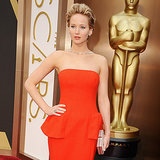 Jennifer Lawrence on the 2014 Oscar Red Carpet