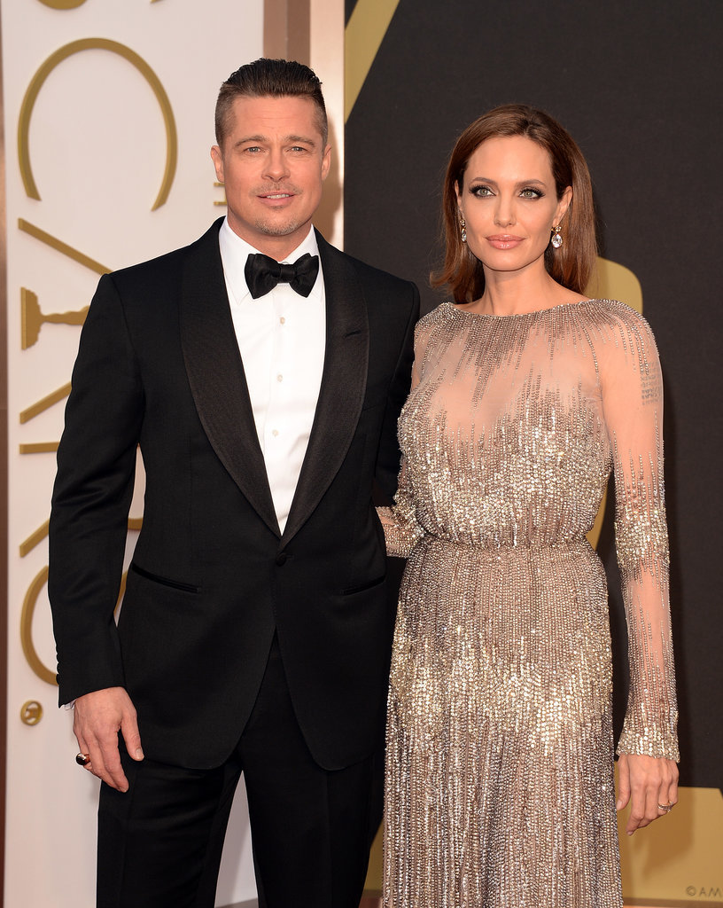 Brad And Angelina 2014 Oscars