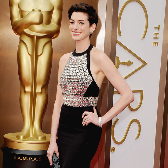 Anne Hathaway Oscars 2014 Red Carpet Dress