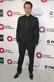 JC Chasez rocked a sleek black suit.