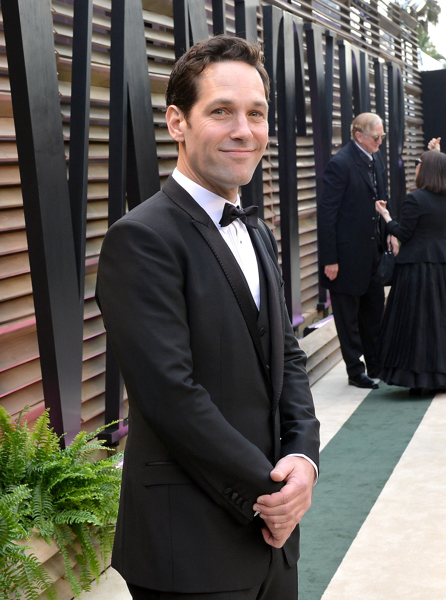 Paul Rudd posed on the red carpet.