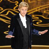 Ellen DeGeneres Oscars 2014 GIF With Sandra and Leonardo