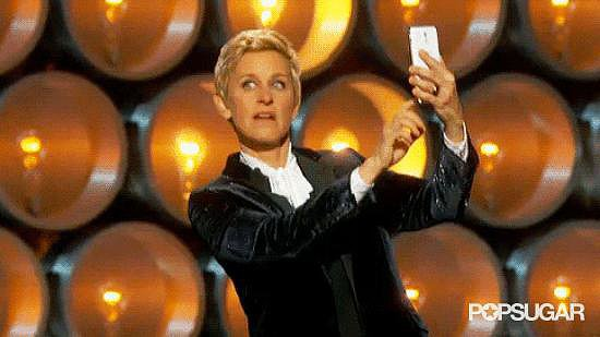 Ellen Took a Selfie On Stage, Used #Blessed Hashtag