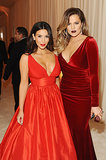 Kim and Khloé Kardashian both wore red.