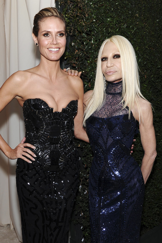 Heidi Klum and Donatella Versace