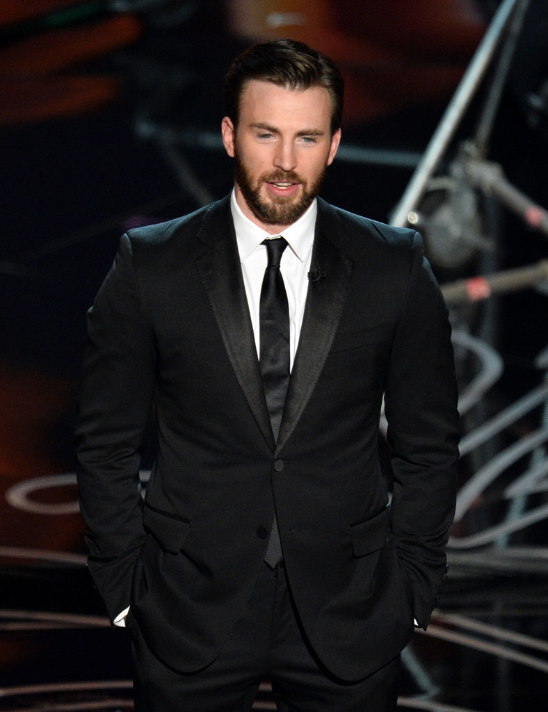 Chris Evans presented at the Academy Awards.