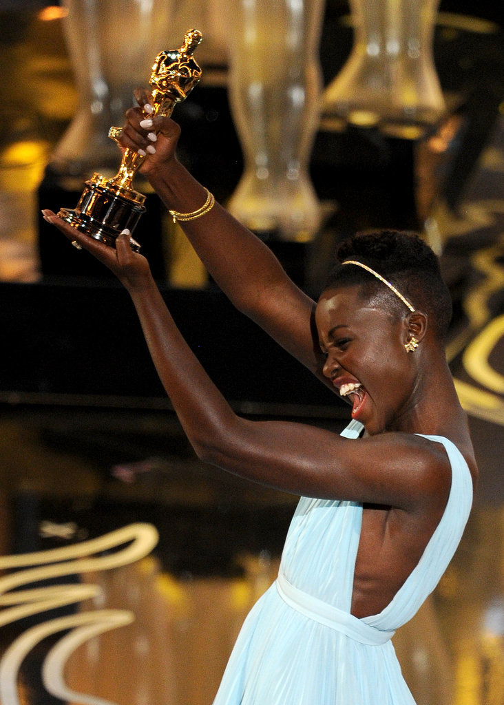 Lupita Nyong'o was over the moon as she accepted her award.