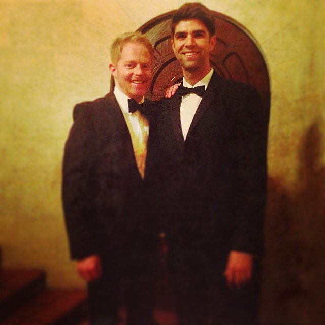 Jesse Tyler Ferguson and his husband made a dapper duo on their way to the Vanity Fair party. Source: Instagram user jessetyler