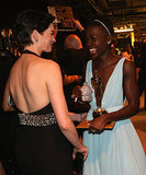 Anne Hathaway and Lupita Nyong'o shared a sweet moment.