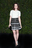 Lily Collins at Chanel's Pre-Oscars Dinner