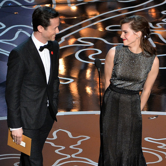 Emma Watson and Joseph Gordon-Levitt at 2014 Oscars