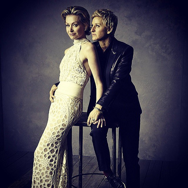 Ellen DeGeneres and Portia de Rossi killed it.  Source: Instagram user vanityfair