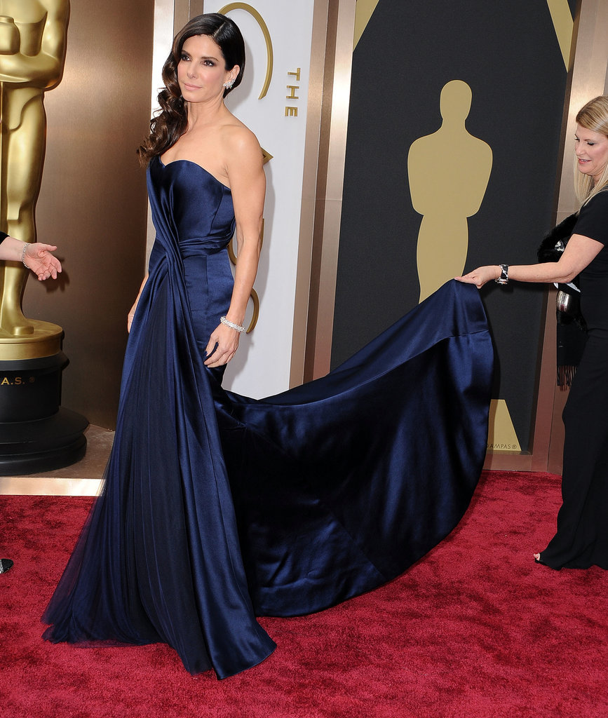 Sandra Bullock in Alexander McQueen at the 2014 Oscars