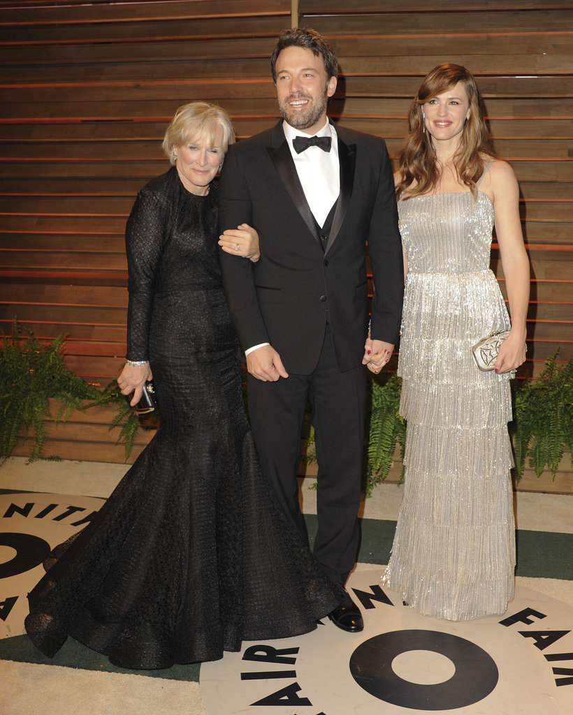 Glenn Close photobombed Ben Affleck and Jennifer Garner.