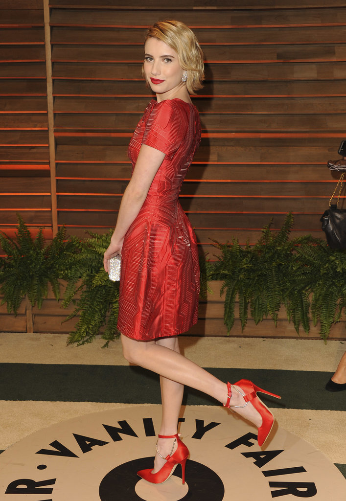 Emma Roberts popped her leg up for a photo.