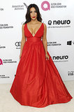 Kim Kardashian at the 2014 Annual Elton John AIDS Foundation Academy Awards Viewing Party