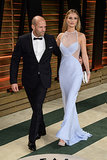 Rosie Huntington-Whiteley stepped out alongside Jason Statham.
