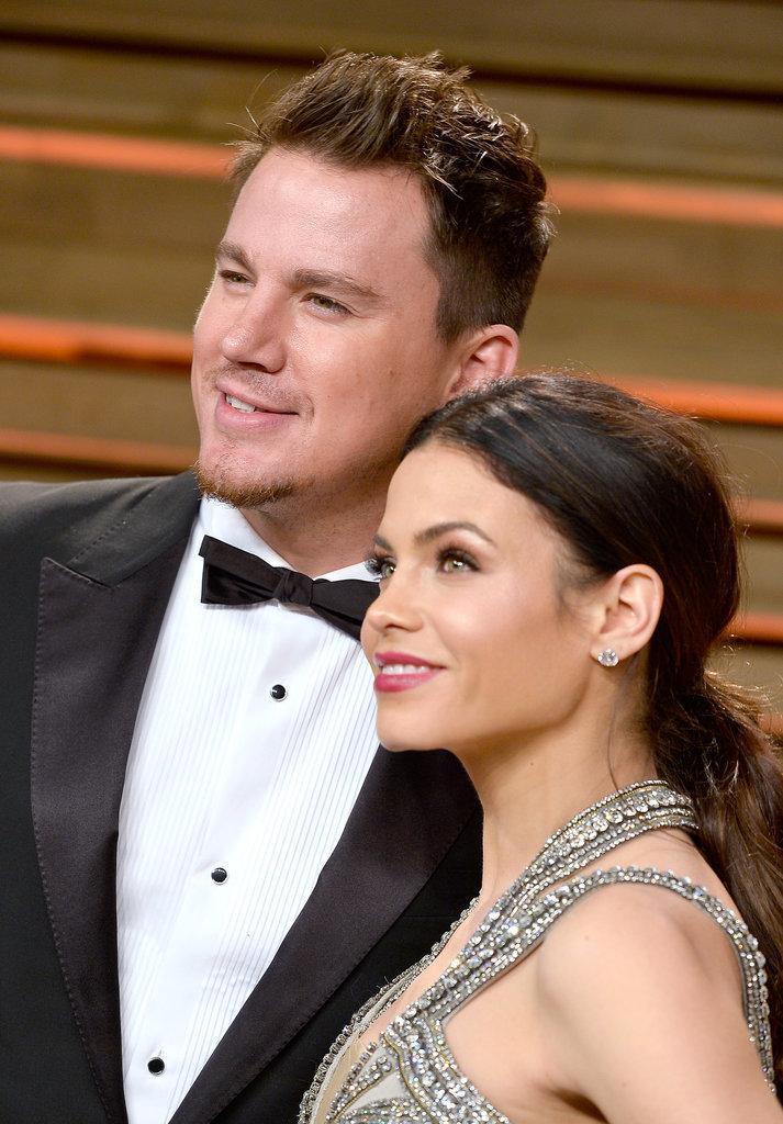 Channing Tatum and Jenna Dewan-Tatum glowed at the Vanity Fair Oscars party.