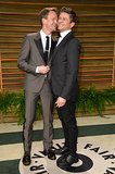 Neil Patrick Harris and David Burtka were all smiles at the Vanity Fair Oscars party.