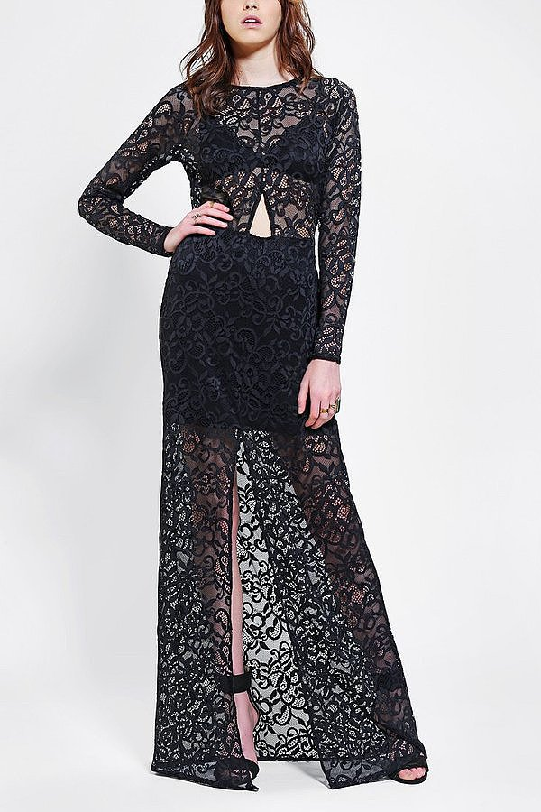 For Love & Lemons Black Lace Long-Sleeve Maxi Dress ($100, originally $270)