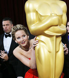 When She Hid Behind a Statue While Brad Pitt Watched