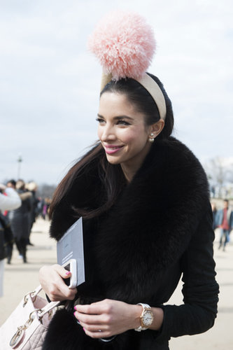 No accessory is too dramatic for Paris Fashion Week.