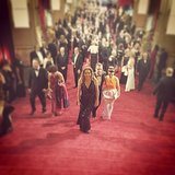 Editor in chief Lisa Sugar looked absolutely stunning on the red carpet. Source: Instagram user briansugar