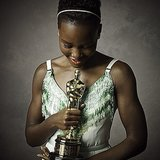 Lupita looked gorgeous soaking in her moment.   Source: Instagram user vanityfair