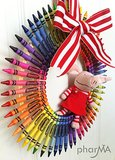 Colorful Crayon Wreath