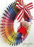 A Colorful Crayon Wreath