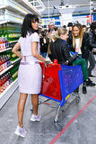 Rihanna toted Cara in a cart. Keep scrolling for more photos!