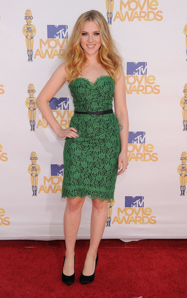 Scarlett Johansson at the MTV Movie Awards, 2010