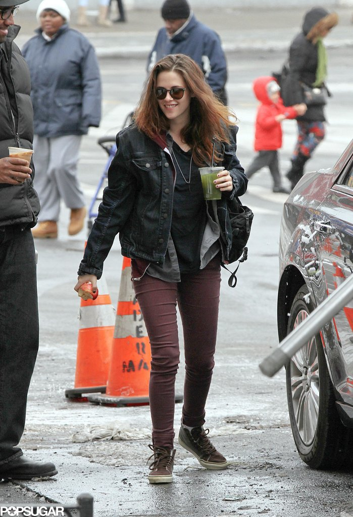 Kristen Stewart arrived on the set of Still Alice in NYC on Monday.