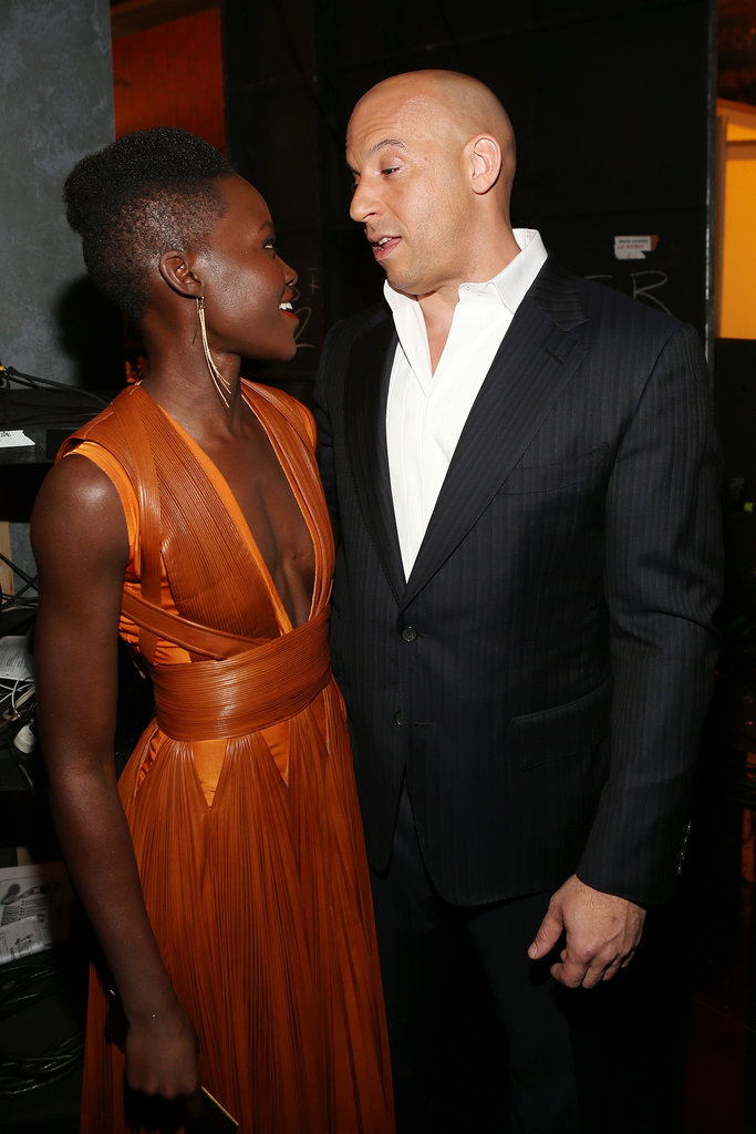 She ran into Vin Diesel backstage at the NAACP Image Awards.