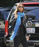 Jared Leto flashed a thumbs up while walking around LA on Tuesday.