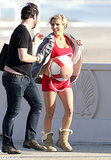 Elsa Pataky Paints Her Bump For a Beach Photo Shoot