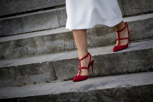 Nothing gets you noticed quite like a pair of red heels.