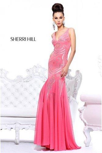 Pink Open Back 1605 Long Prom Dress Sherri Hill