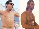 Chris Hemsworth vs. Leo DiCaprio for Best Shirtless Performance in MTV Movie Awards Nominations